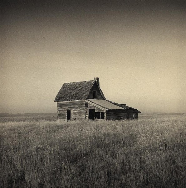 Homestead - silver gelatin print. Belle Fourche South Dakota