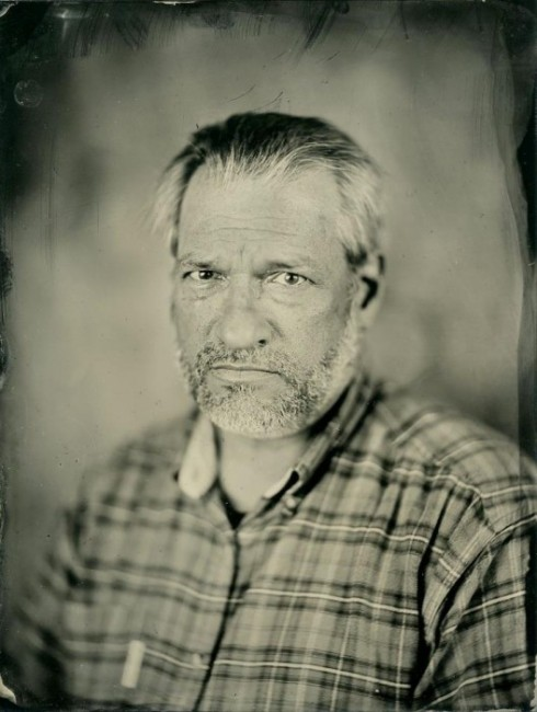 Chris Faust - local MN photographer. 6x8 collodion on aluminum