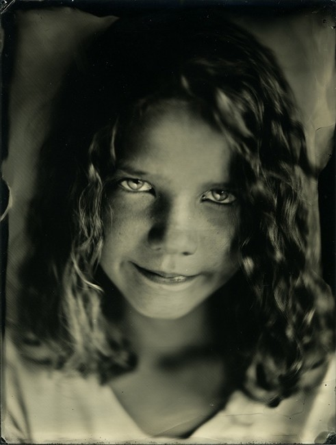 Evie - my daughter. 6x8 collodion on aluminum